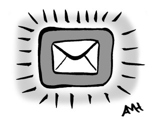 Email icon anne and god newsletter