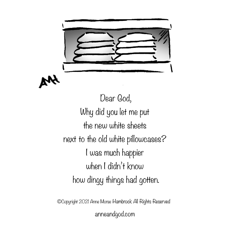 White sheets anne and god