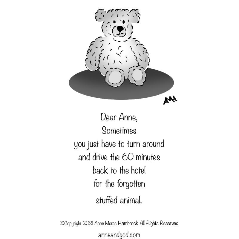Teddy bear anne and god