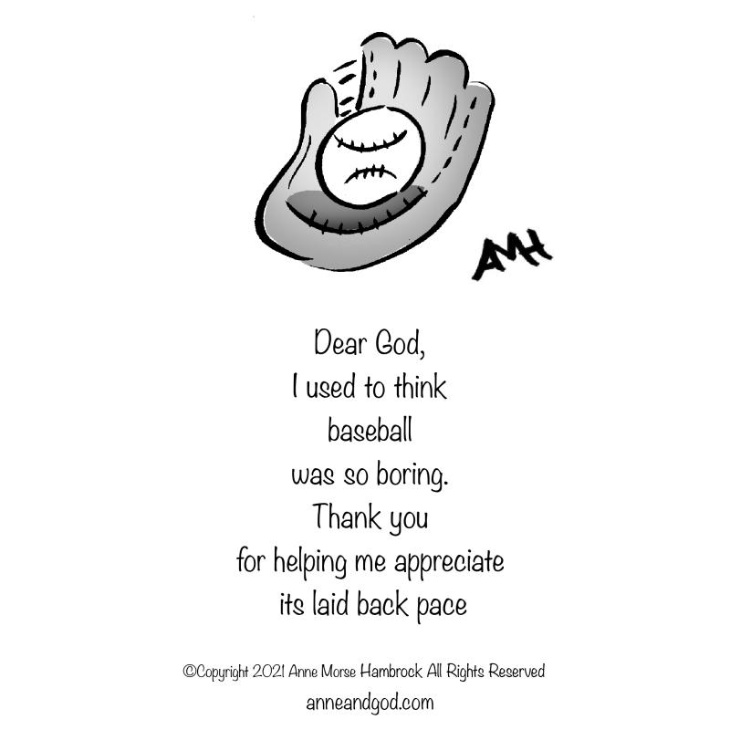 Baseball glove anne and god