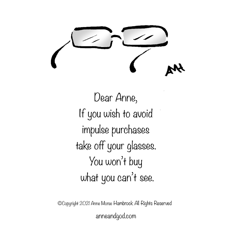 Glasses anne and god