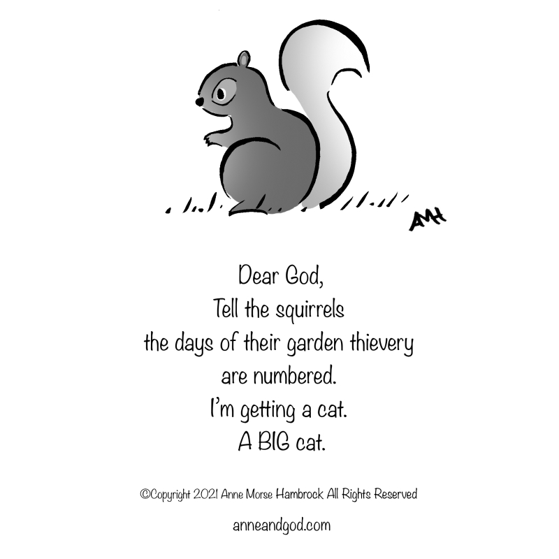 Squirrel anne and god