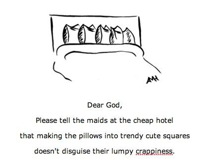 cute square hotel pillows